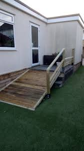 Handicap Ramps Wood Designs Ramp And Banister From Reclaimed Pallet Wood Wheelchair