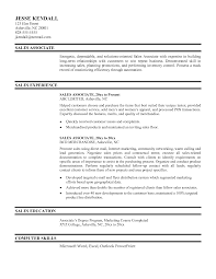 Sample Sales Associate Resume Relevant Portrayal Example Of Retail