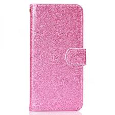 glitter shine leather wallet phone case for iphone 6s plus 6 plus 6p 5 5 inch pink leather case guuds