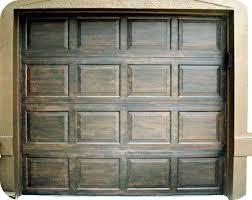 paint metal garage door to look like wood how to paint metal garage doors look like