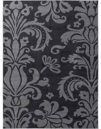 stunning damask area rug houzz electro rosetta grey modern damask well woven area