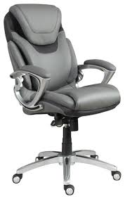 serta at home airtm health and wellness executive office chair. serta air executive office chair gray bonded leather contemporary-office- chairs at home airtm health and wellness q