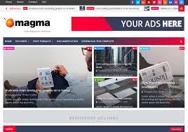 Magma News Responsive Blogger Template Blogspot Templates 2018
