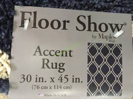 costco 1021562 maples floor show accent rug size