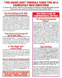 Exacta Box Chart Magic Box System For Horse Racing