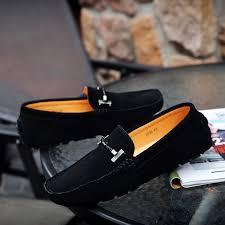 Spring New <b>Leather</b> Men's <b>Peas</b> Shoes Hand Stitching <b>Soft Bottom</b> ...
