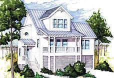 Elevated  Raised  Piling and Stilt House Plans   Coastal Home Plans
