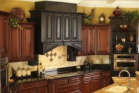 Decorations On Top Of Kitchen Cabinets Mesmerizing Kitchen Kitchen Cabinets Top Decorating Ideas Dark Brown Rectangle