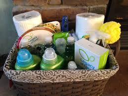 Gift Basket Wrapping Ideas Housewarming Gift Basket All Green Cleaning Products Available