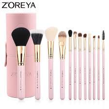 zoreya brand 12pcs makeup brushes set cosmetic brushes tool foundation powder makeup kit beauty makeup holder best quality msia