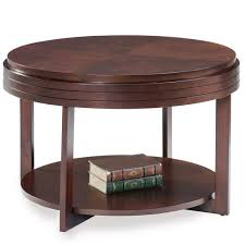small coffee table round wood apartment condo space saving vintage tables shelf for