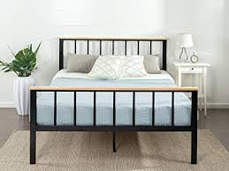 wood and metal platform bed. Unique Wood Zinus Contemporary Metal And Wood Platform Bed Queen Inside And Bed