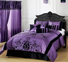 awesome black purple white color wood modern design bedroom white color wall purple cover bed purple bedroom awesome black white