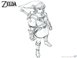 The Legend Of Zelda Link Coloring Pages Link Coloring Pages Free