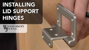 how to install lid supporting torsion hinges