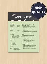 Elementary School Teacher Resume Cover Letter Modern