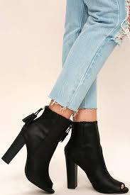 black p toe booties vegan nubuck booties high heel booties 42 00