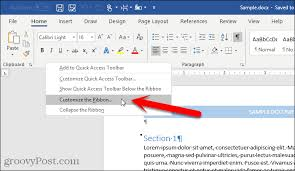 Word Ribbon How To Enable The Developer Tab On The Microsoft Office Ribbon