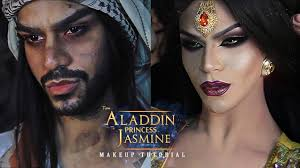 aladdin to princess jasmine makeup tutorial arabia felix