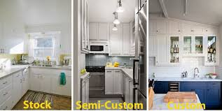 Kitchen Cabinet Styles The Differences Between Stock Semi Custom