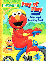 Amazon Com Sesame Street Coloring Activity Book Cover Art And