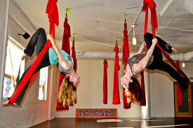 aerial yoga at south boston yoga photo provided