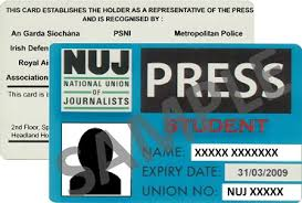 Of - Cards Journalists Press And Membership National Union