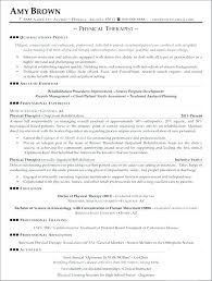 Physical Therapist Resume Template Occupational Therapy Resume ...