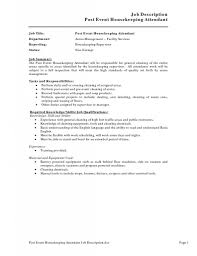 Housekeeping Resume Best Housekeeping Resume Sample With Objective And Experience 39