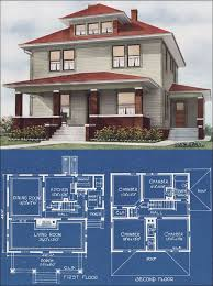 images about Vintage House Plans on Pinterest   Radford    All of the plans in American Homes Beautiful were illustrated by full color perspective drawings     unusual even for the when illustration skills were at