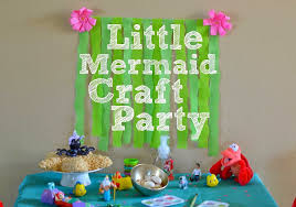 the little mermaid craft party with diy little mermaid party decorations disneyprincessplay