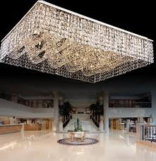 Flush Ceiling Lights Living Room Delectable New Flush Mount Living Room Light Rectangular Crystal Chandelier