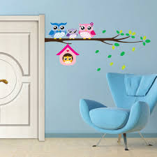 Owl-Birds-Branch-Mural-Wall-Stickers-Decal-Removable-