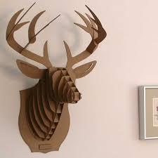 deer head wall mount diy model 3d puzzle cardboard animal decor reindeer head wall hanging cardboard