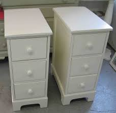 White Small Nightstands with Drawers