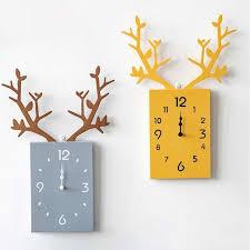 nordic wall clock deer antlers wall