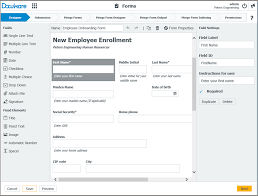Form For Employee Quick Capture Reuse Of Employee Data