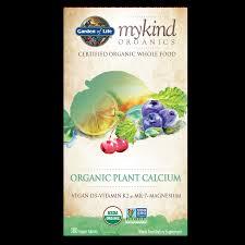 picture of garden of life mykind organics organic plant calcium 180 vegan tablets