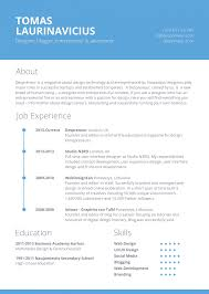 Free Minimal Resume Template Freebies Fribly