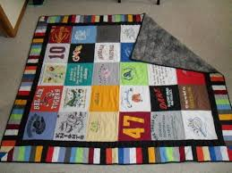 14 best Quilts: T-Shirt images on Pinterest | Crafts, Decoration ... & T Shirt Quilt - use scraps to make coordinating band around the edge-  really like Adamdwight.com