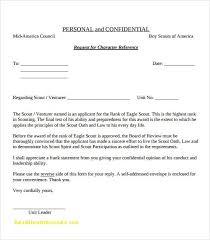 Eagle Scout Parent Letter Of Recommendation Form New Bsa Certificate