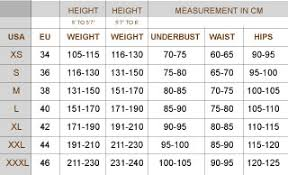 Size Charts Slimming Solutions