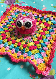 Free Crochet Lovey Pattern Mesmerizing Super Cute Owl Lovey Blanket For Babies Free Crochet Pattern
