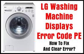 lg washing machine displays error code pe how to fix and clear error? LG Mini Projector at Lg 3 Wire Harness Mini Sit