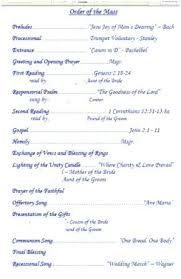 Free Printable Wedding Ceremony Programs Catholic Wedding Program Template Sample Wedding Programs Wedding
