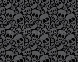 Skull Pattern Magnificent Wallpaper Pattern Funny Skulls Stock Vector Colourbox
