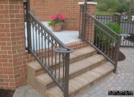 Decor Outdoor Potted Plant Design Ideas With Wrought Iron Railing