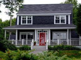 red door grey house. Casual Porch For Two Type Exterior House Paint Colors And Simple On Pinterest Yellow Doors White Red Door Grey