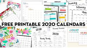 Botanical paperworks has four free printable calendars for 2021, each one with a unique style. 20 Free Printable 2020 Calendars Lovely Planner