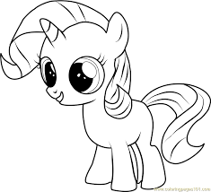 Small Picture Filly Rarity Coloring Page Free My Little Pony Friendship Is